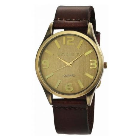 Pánske hodinky Excellanc - hnedé