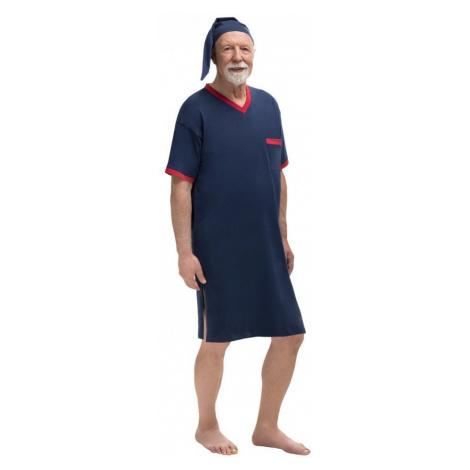 Pánska nočná košeľa Martel 502 Hladká kr / r 3XL Sylwester I