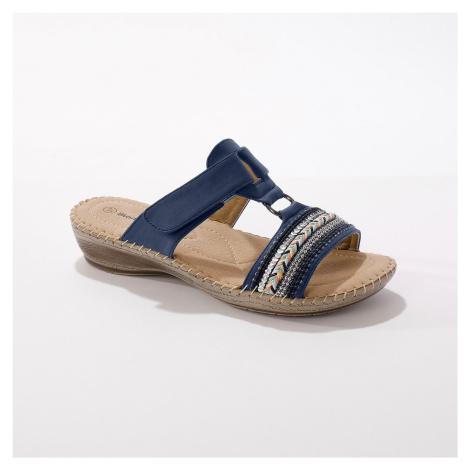 Blancheporte Pohodlné papuče na kline, modré modrá
