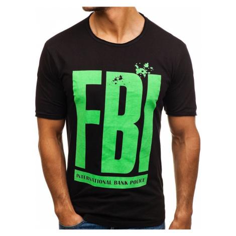 Čierne pánske tričko s potlačou BOLF 6295 RIPRO