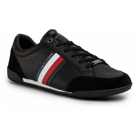 Sneakersy TOMMY HILFIGER - Corporate Material Mix Cupsole FM0FM02665 Black BDS