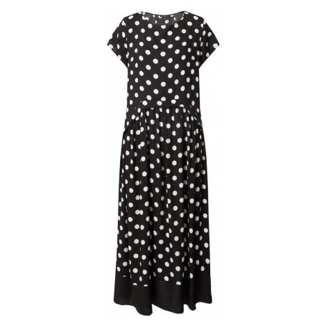 APART Letné šaty  čierna / krémová