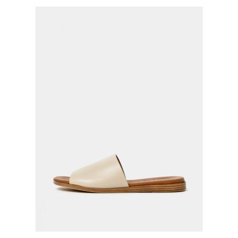 OJJU Helsinki Cream Leather Slippers