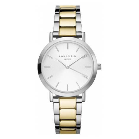Rosefield The Tribeca White Sunray Steel Silver Gold Duo TWSSG-T63 - SLEVA