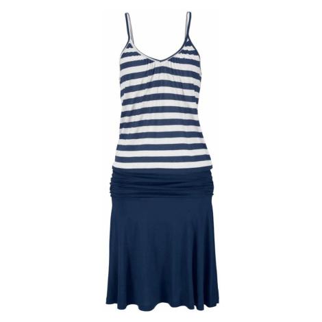 BEACH TIME Plážové šaty  modrá / prírodná biela Beachtime