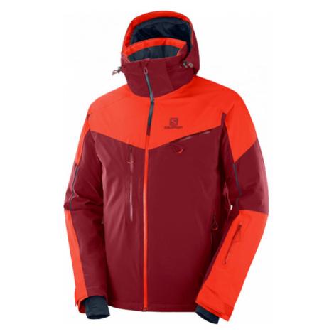 Salomon ICESPEED JKT oranžová - Pánska lyžiarska bunda