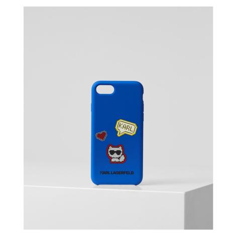 Obal Na Telefon Karl Lagerfeld Pixel Choupette 8 - Modrá