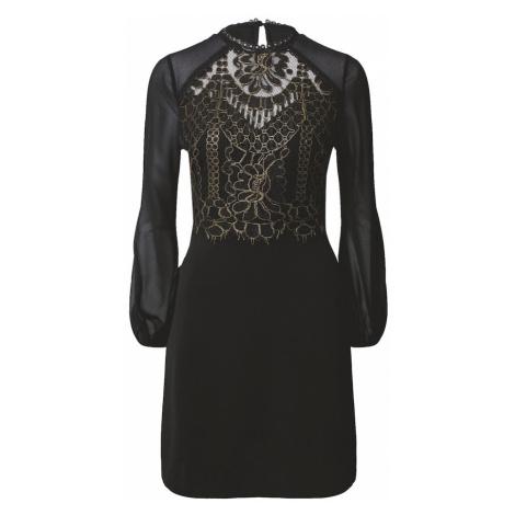 Lipsy Šaty 'Aline'  čierna / zlatá