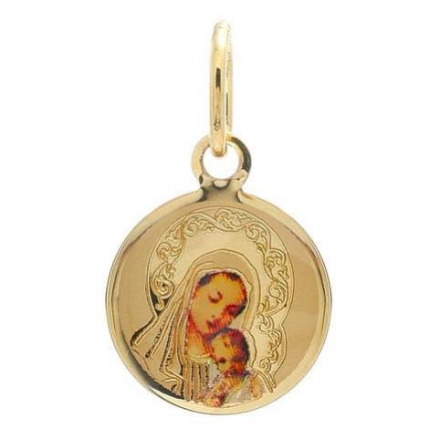 Zlatý medailónik Panny Márie s dieťatkom