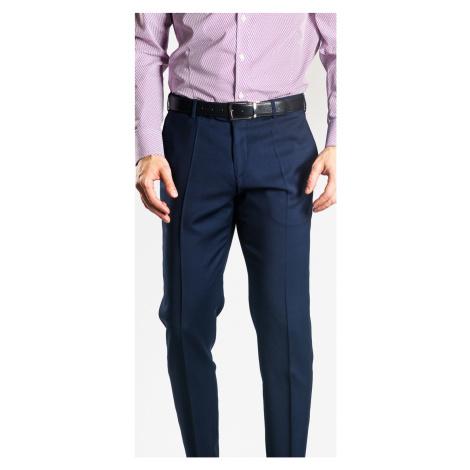 Tmavomodré oblekové nohavice Alain Delon