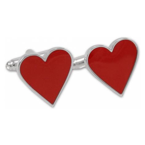 Manžetové gombíky v tvare srdca