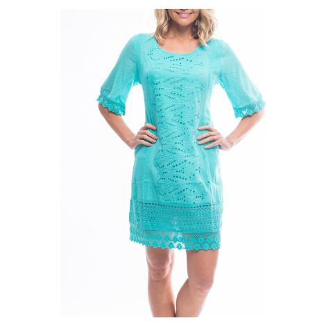 Orientique tyrkysové letné šaty Sleeve Aqua