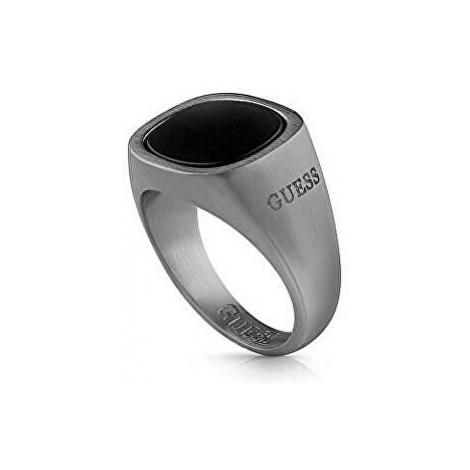 Guess Pánsky prsteň s čiernym kameňom UMR29008 mm
