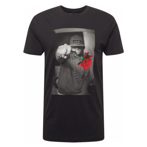 Mister Tee Tričko 'Pistol Rose'  čierna / červená / sivá