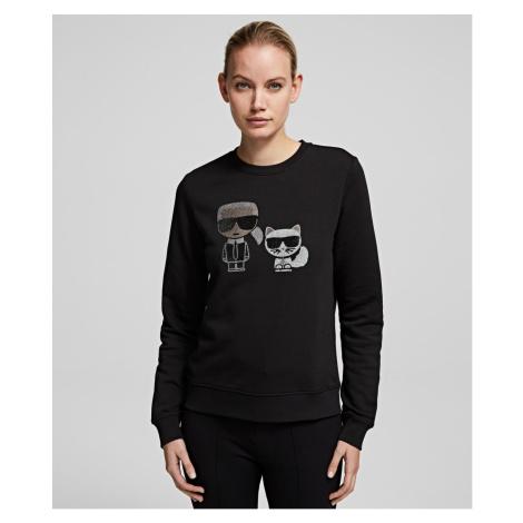 Mikina Karl Lagerfeld Ikonik Rhinestone Sweatshirt