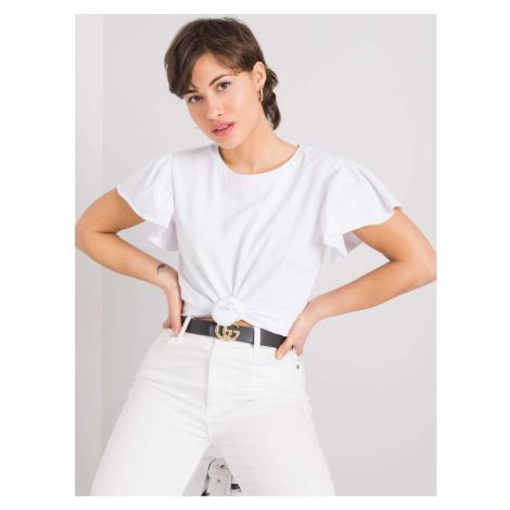 Women's white cotton t-shirt