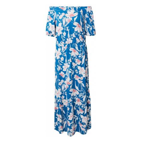 ESPRIT Letné šaty  nebesky modrá / béžová / staroružová