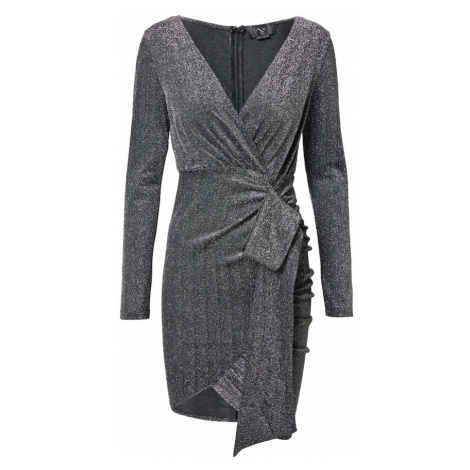 AX Paris Kokteilové šaty  strieborná