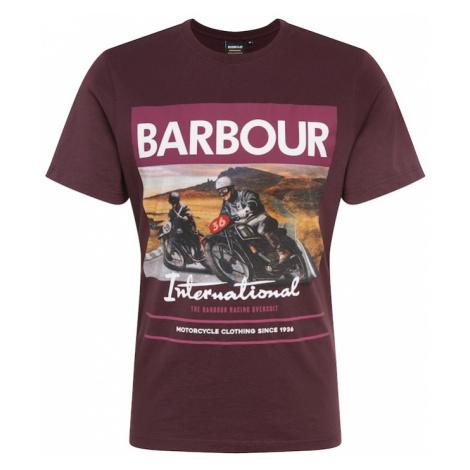 Barbour International Tričko 'Racer'  burgundská / vínovo červená / biela / hnedá / antracitová