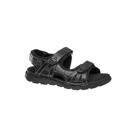 Čierne kožené sandále Claudio Conti