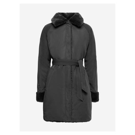 Kabát Geox W Kaula Čierna