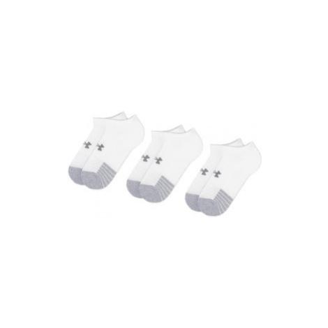 Under Armour Súprava 3 párov kotníkových ponožiek unisex Heatgear No Show Sock 1346755-100 Biela