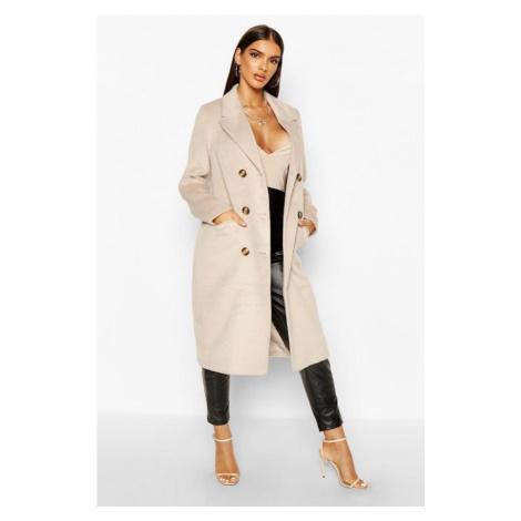 Kabát vlneného vzhľadu s vreckami Boohoo