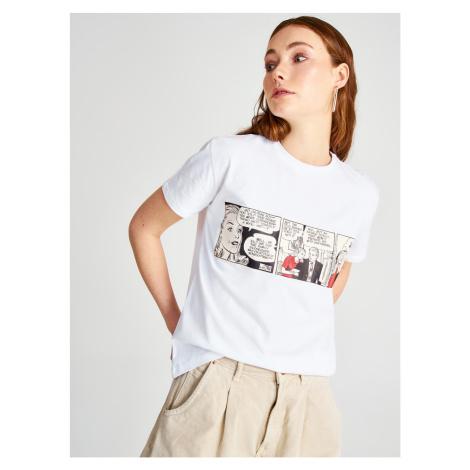 Biele tričko Trendyol
