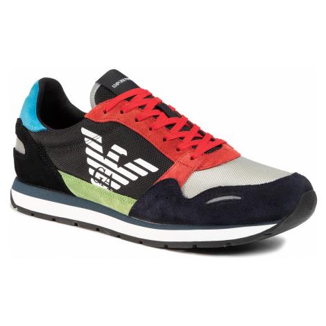 Sneakersy EMPORIO ARMANI - X4X215 XL200 A678 Universe/Lime/Black