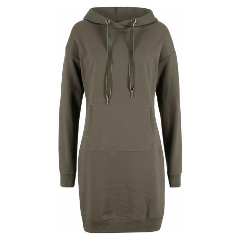 Mikinové šaty s kapucňou bonprix