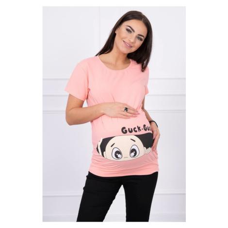Maternity blouse Guck apricot