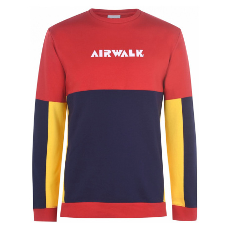 Airwalk Panel Sweatshirt Mens Red/Navy