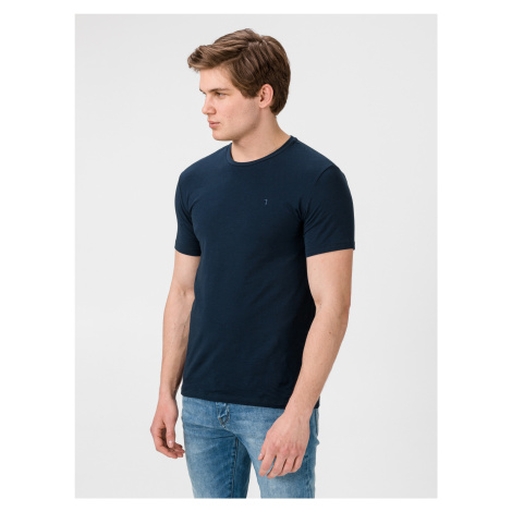 Tričko Trussardi T-Shirt Cotton Stretch Slim Fit Modrá
