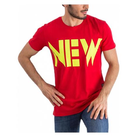 červené pánske tričko new MECHANICH