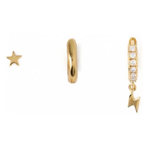 Orelia Sada šperkov 'Star & Lightning Ear Party'  zlatá