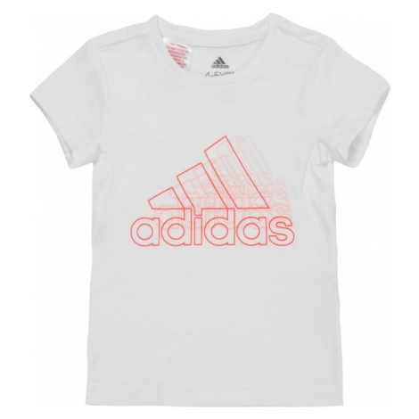 ADIDAS PERFORMANCE Funkčné tričko  červená / biela