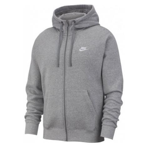 Nike NSW CLUB HOODIE FZ BB M šedá - Pánska mikina
