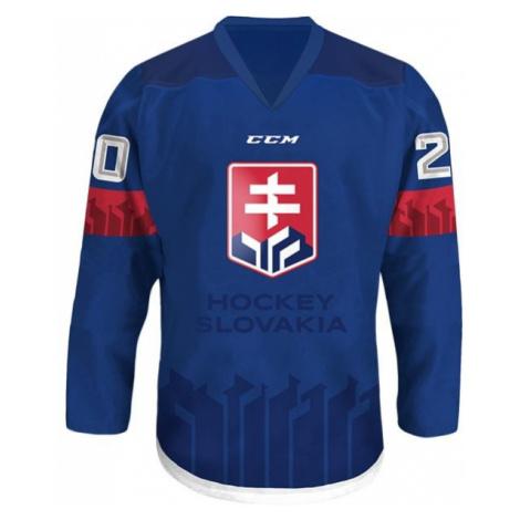 CCM HOKEJOVÝ DRES VÝŠIVKOU modrá - Hokejový dres