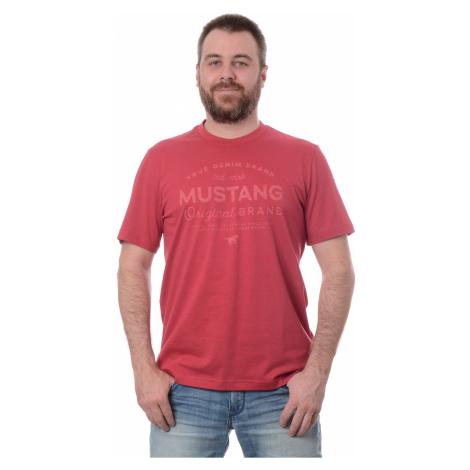 Tričko Mustang Alex C Print pánske červené
