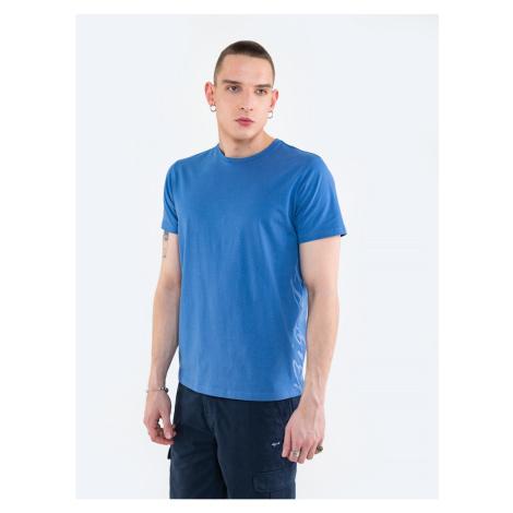 Big Star Man's T-shirt_ss T-shirt 152019 Navy Knitted-402