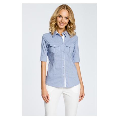 Modrá košeľa MOE 027