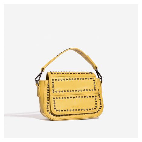 Žltá kabelka s cvokmi Nali
