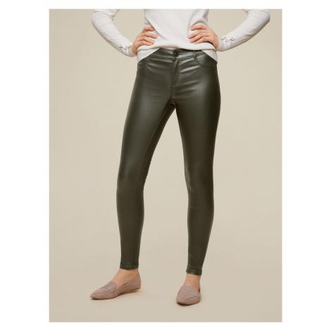 Dorothy Perkins khaki skinny fit nohavice