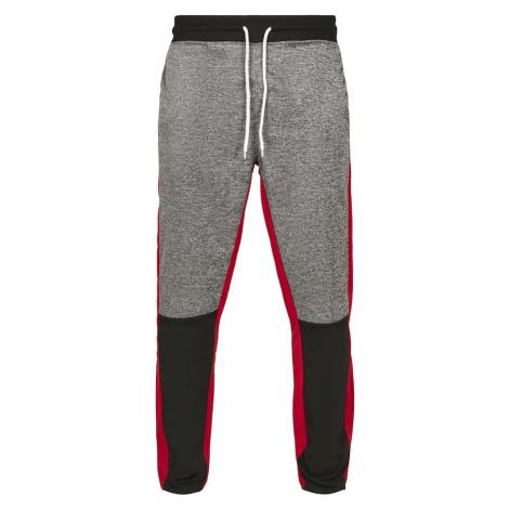 SOUTHPOLE Nohavice 'Marled Track'  sivá melírovaná / červená / čierna