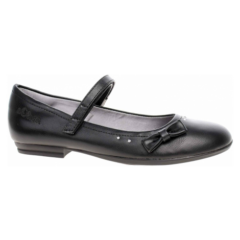 Dívčí lodičky s.Oliver 5-42800-24 black 5-5-42800-24 001