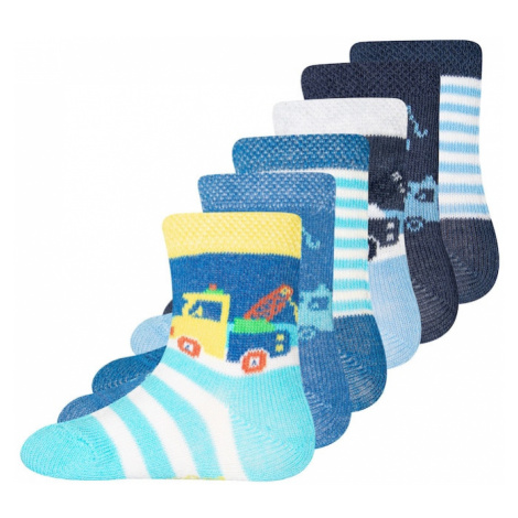 EWERS Ponožky  biela / limetková / námornícka modrá / nefritová / pastelovo červená