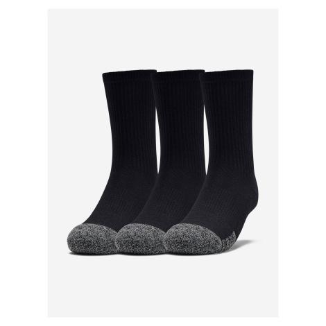 Ponožky Under Armour Youth Heatgear Crew-Blk Čierna