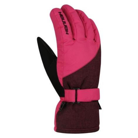 Hannah ROWE ružová - Dámske lyžiarske rukavice