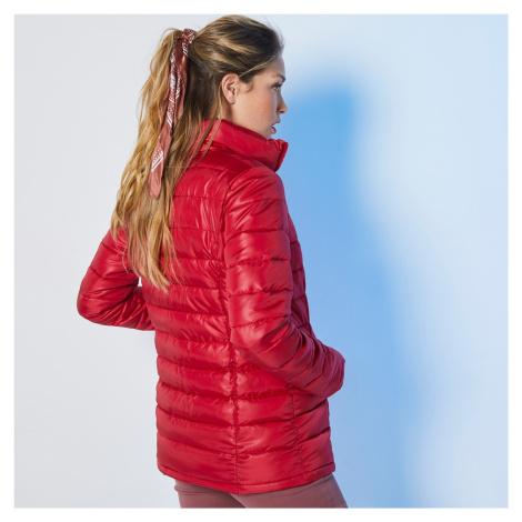 Blancheporte Jednofarebná prešívaná bunda, krátka tomatová