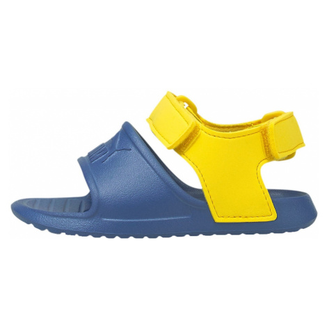 PUMA Otvorená obuv 'Divecat'  žltá / námornícka modrá